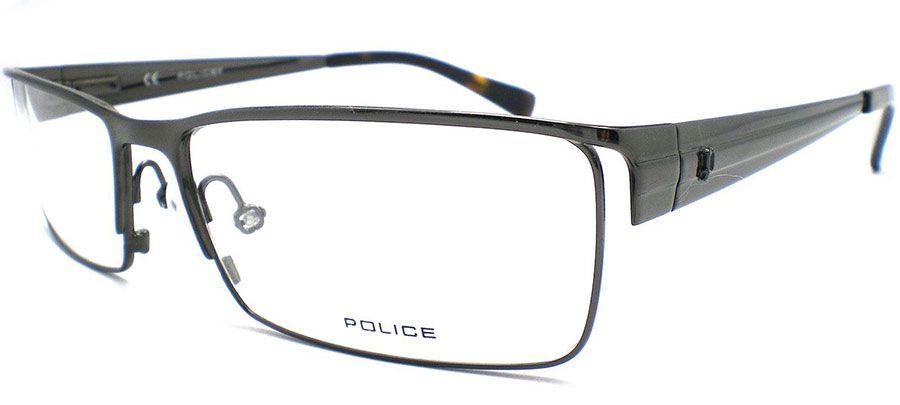 ÓCULOS DE GRAU POLICE V8329   55 - CINZA