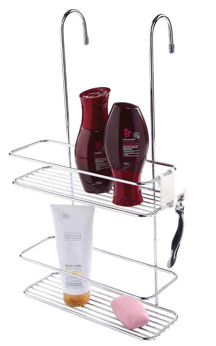 Suporte para Shampoo de Box com Gancho Móvel