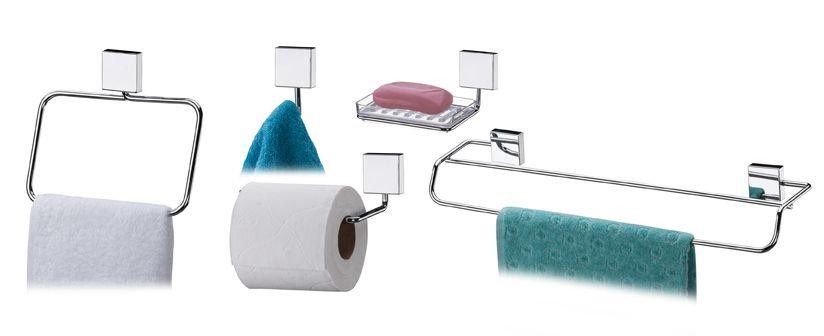 Conjunto Banheiro Inox - 5 Peças