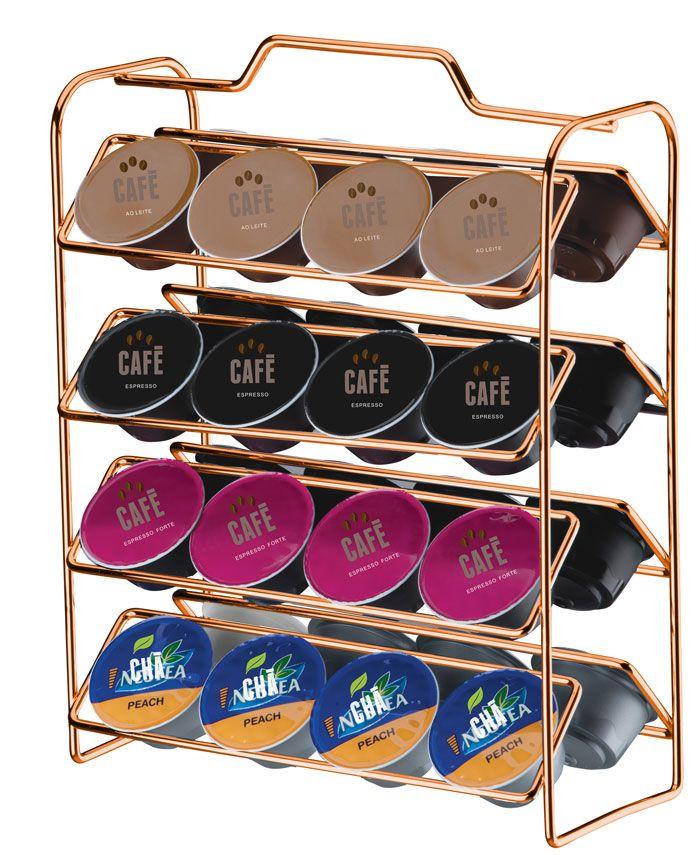Organizador para Cápsulas de Café - Compatível com Dolce Gusto - Rosé Gold