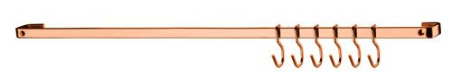 Barra de Piatina 45cm com 6 Ganchos - Rosé Gold