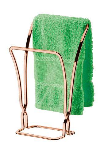 Porta Toalha de Bancada - Rosé Gold