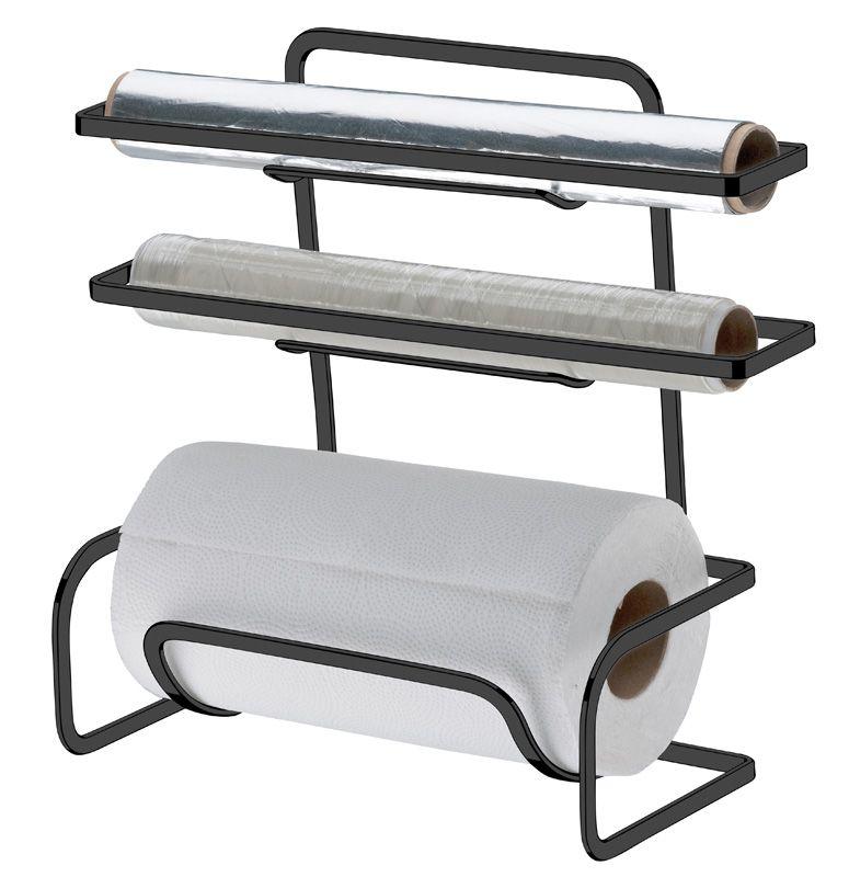 Suporte para Rolos Papel Toalha/Alumínio/PVC - Ônix