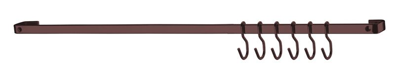 Barra de Piatina 30cm com 6 ganchos - Bronze