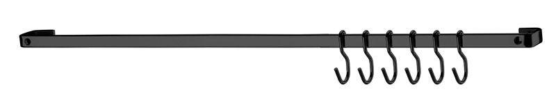 Barra de Piatina 30cm com 6 ganchos - Ônix