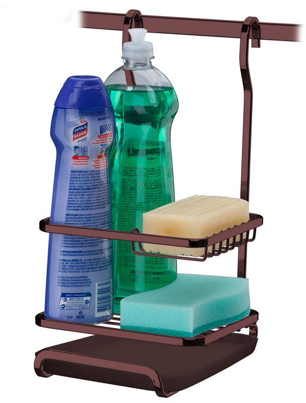 Suporte para Sabão/Detergente/Esponja - Bronze