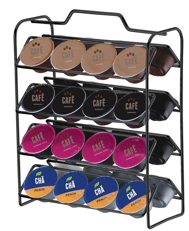 Organizador para Cápsulas de Café - Compatível com Dolce Gusto - Ônix