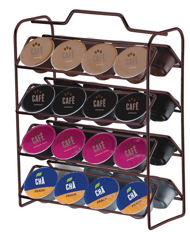 Organizador para Cápsulas de Café - Compatível com Dolce Gusto - Bronze
