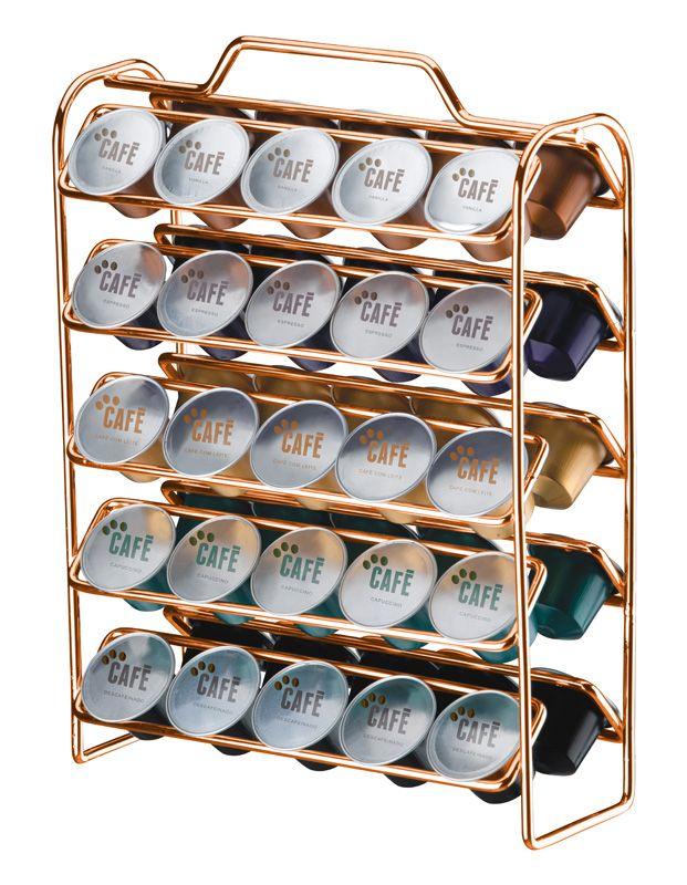 Organizador para Cápsulas de Café - Compatível com Nespresso - Rosé Gold