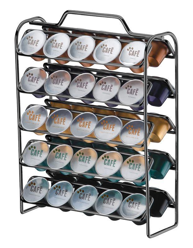 Organizador para Cápsulas de Café - Compatível com Nespresso - Ônix