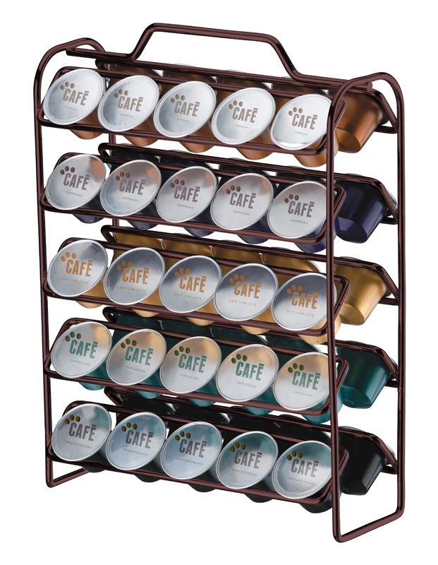 Organizador para Cápsulas de Café - Compatível com Nespresso - Bronze