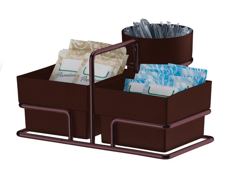 Organizador para Sachês de Açúcar/Adoçante e Mexedor - Bronze