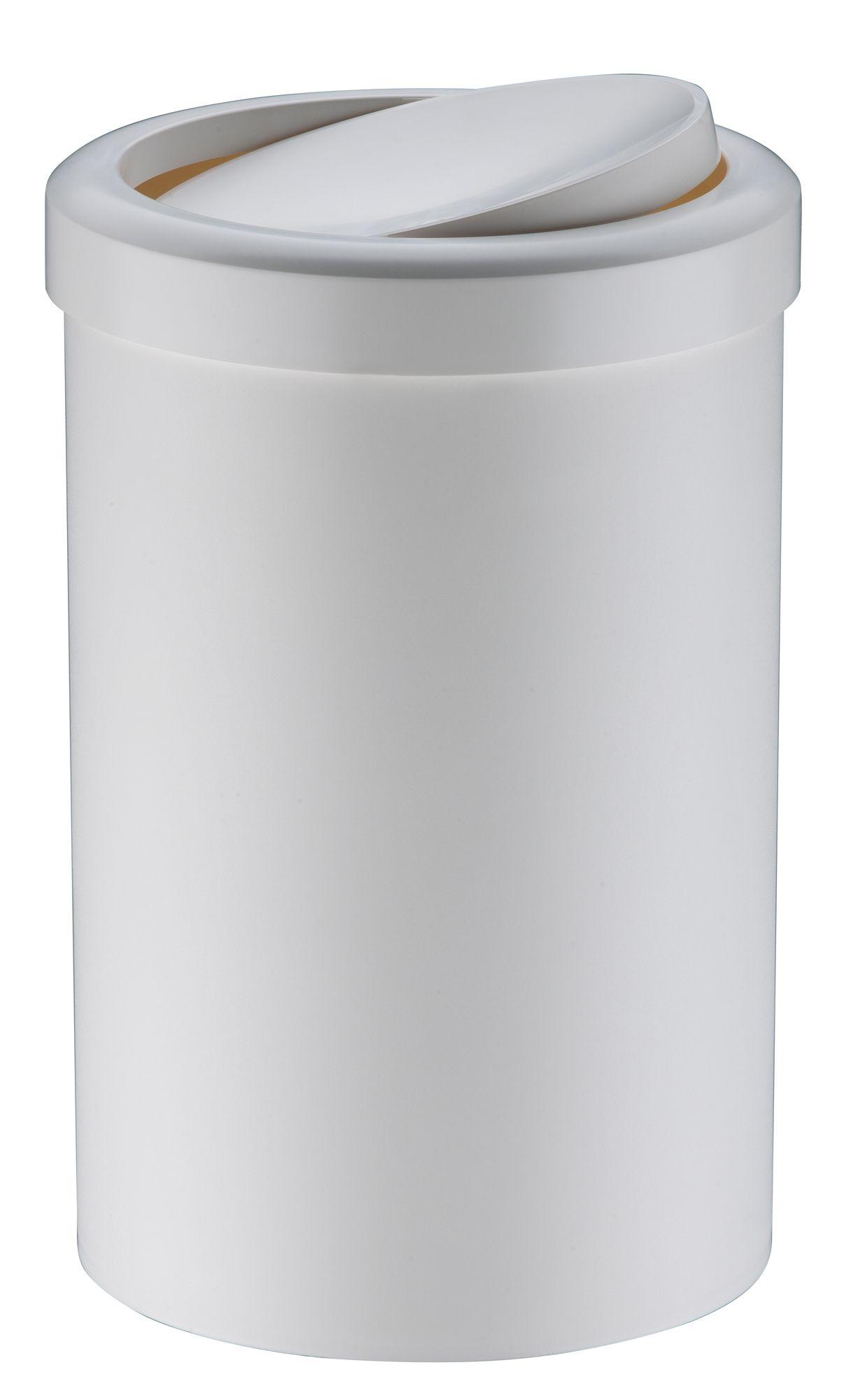 Lixeira c/ Tampa Basculante 8 litros Branca