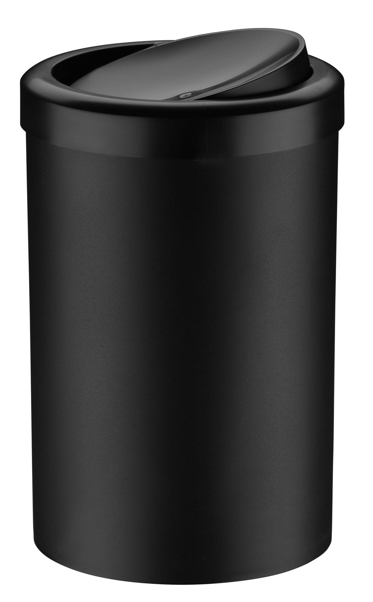 Lixeira c/ Tampa Basculante 8 litros Preta