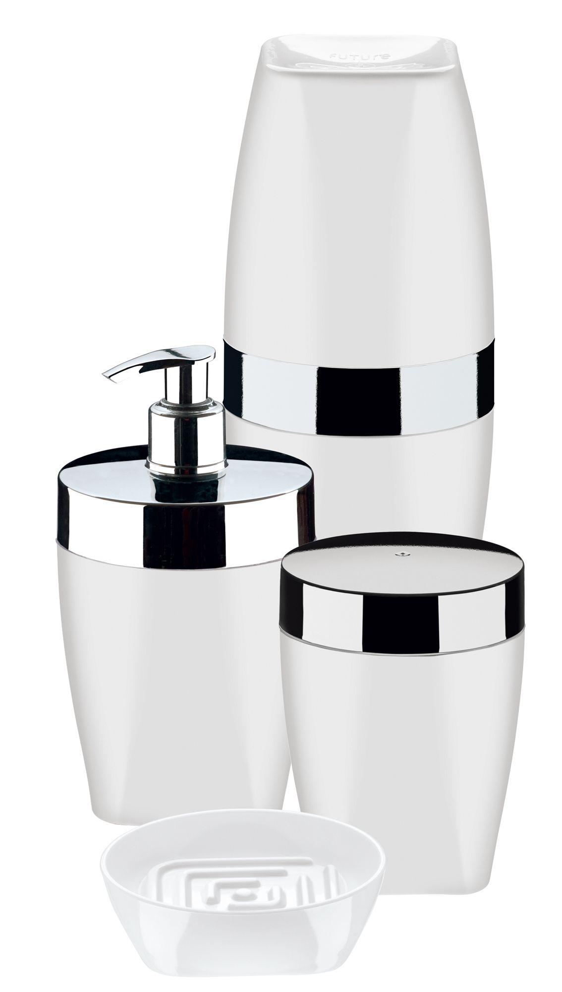 Conjunto para Banheiro 4 Peças Branco