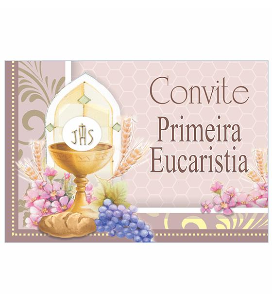 CO-58: Convite Eucaristia/10 un. + envelopes