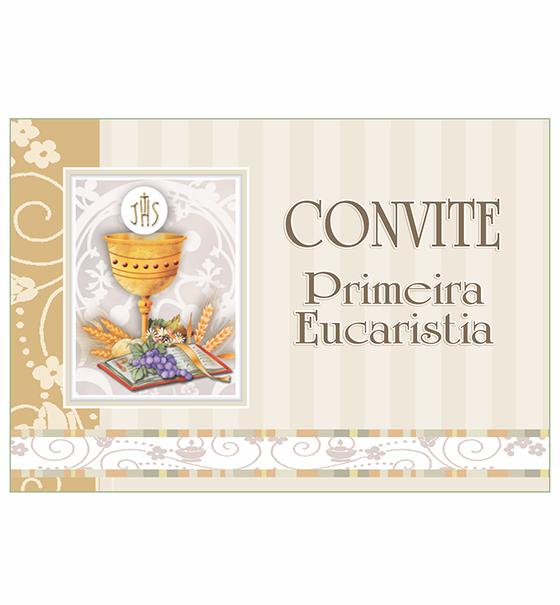 CO-62: Convite Eucaristia/10 un. + envelopes
