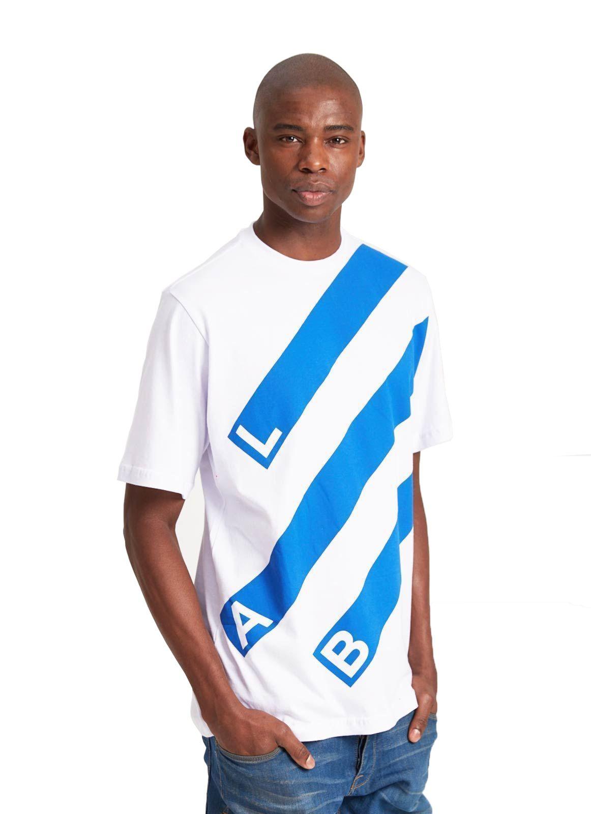 Camiseta Básica Lab Listras Branca