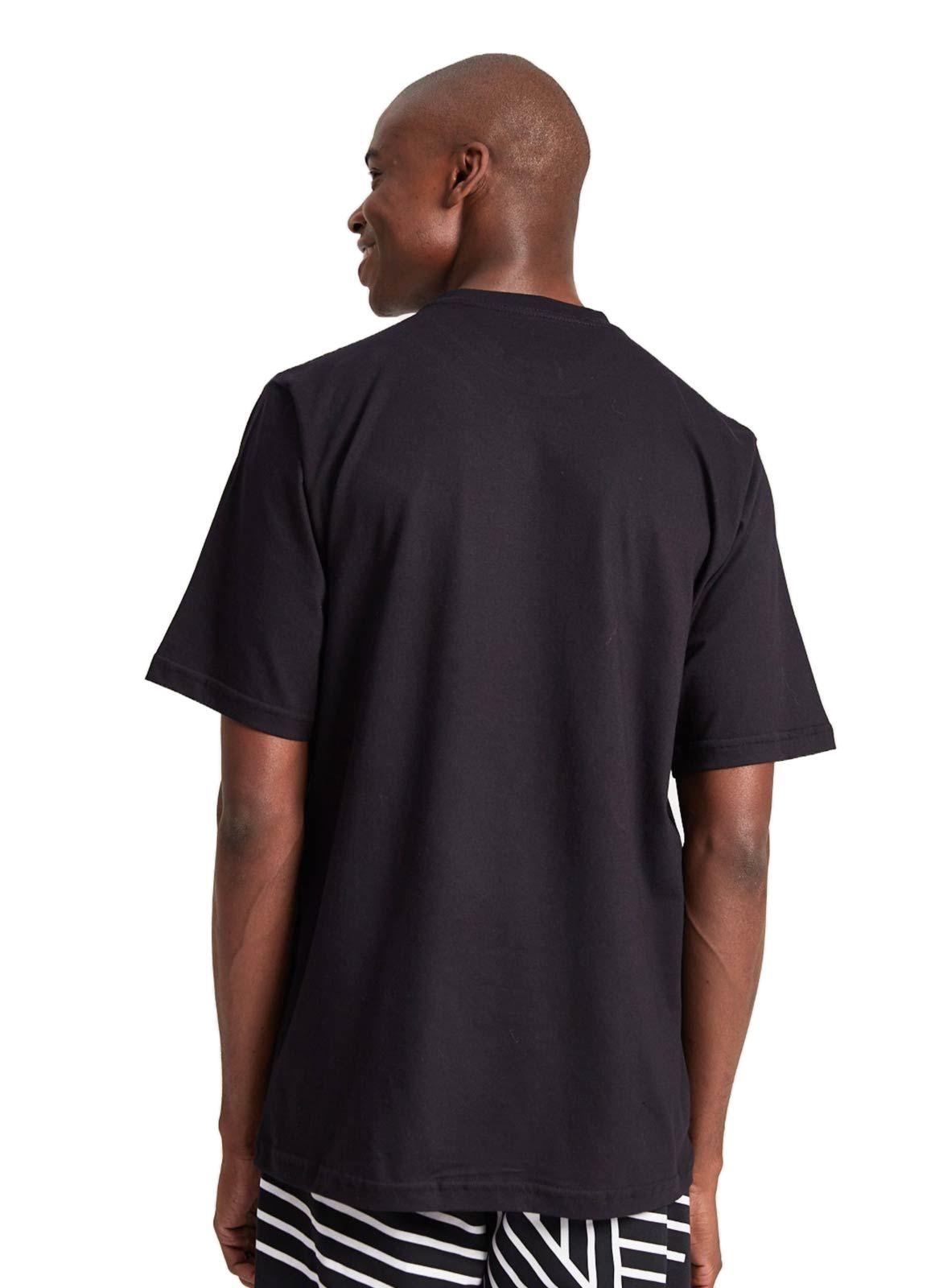 Camiseta Básica Lab Listras Preta