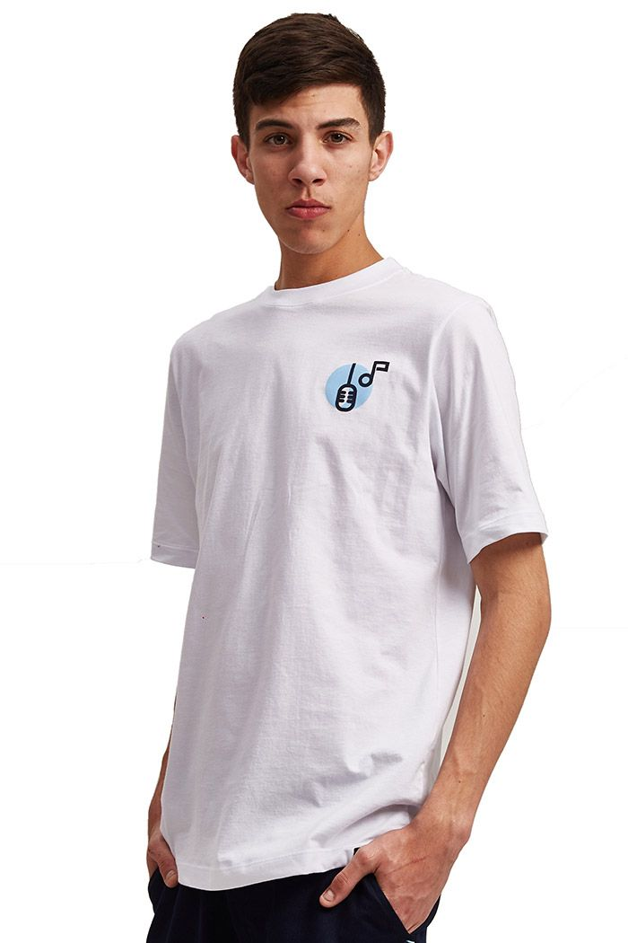 Camiseta Básica Galo Branca