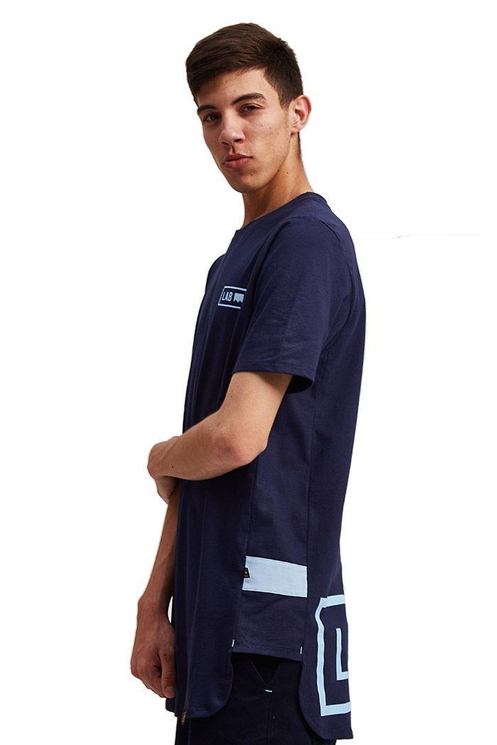 Camiseta Oversized Lab Azul Marinho