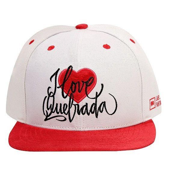 Boné Snapback Tag I Love Quebrada Cinza e Vermelho