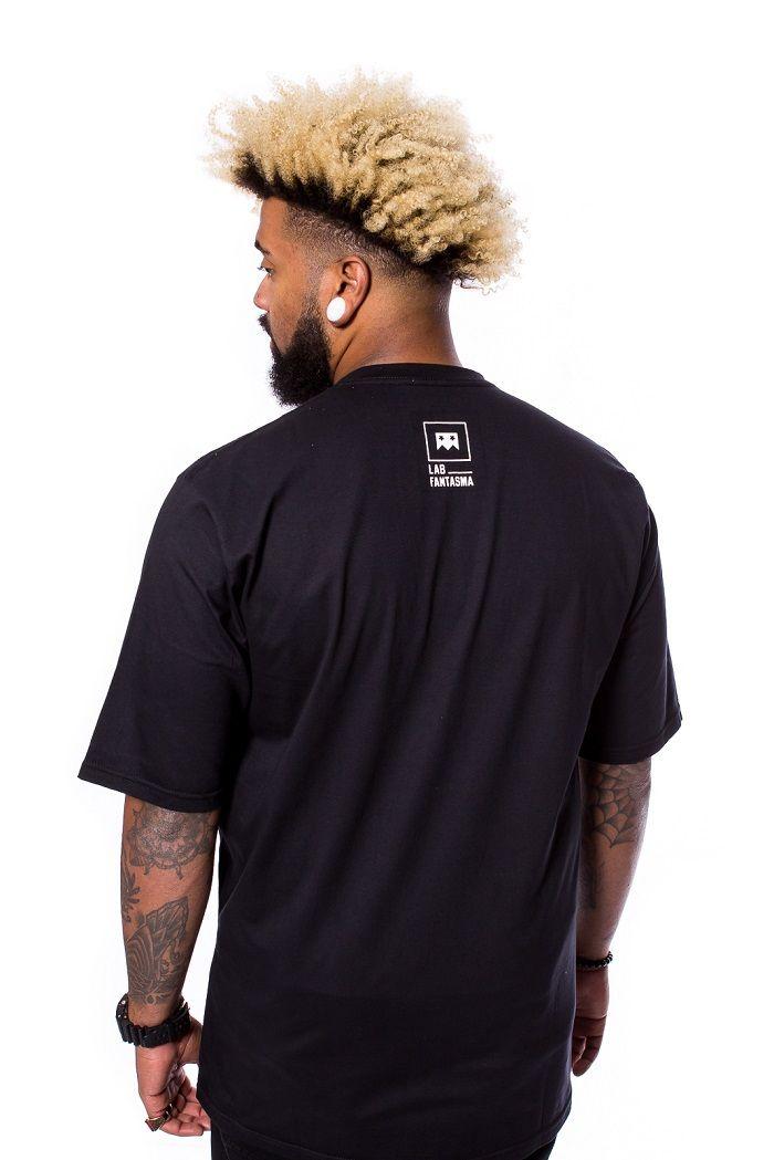 Camiseta Básica A rua é nóiz Camuflado Preta