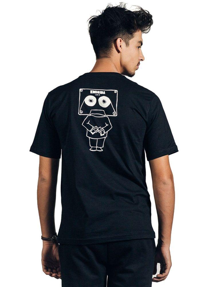 Camiseta Masculina Cabeça de fita Preta