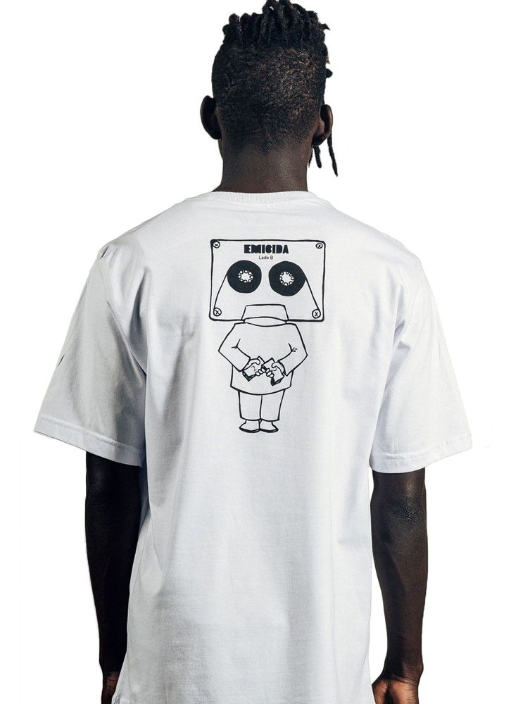 Camiseta Masculina Cabeça de fita Branca