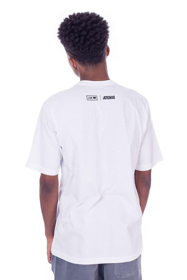 Camiseta Básica LAB Jeremias Estampa Família Branca