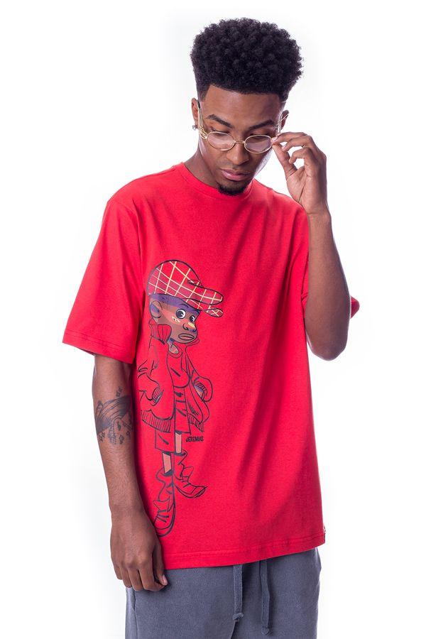 Camiseta Básica LAB Jeremias Style Vermelha