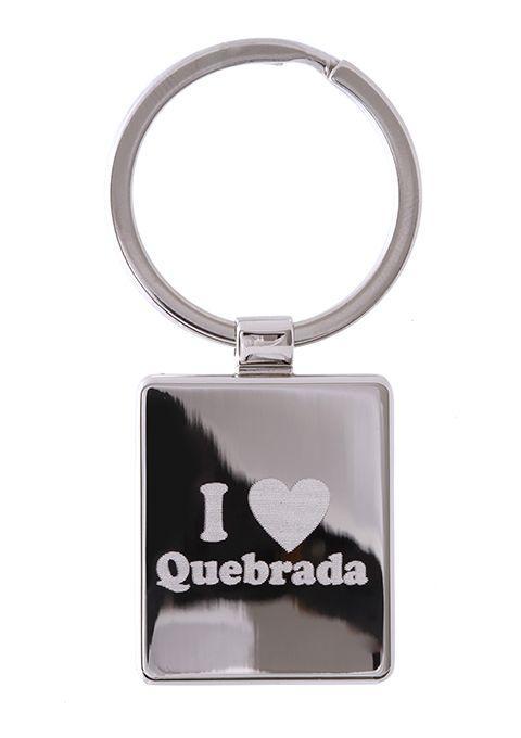 CHAVEIRO DE AÇO I LOVE QUEBRADA