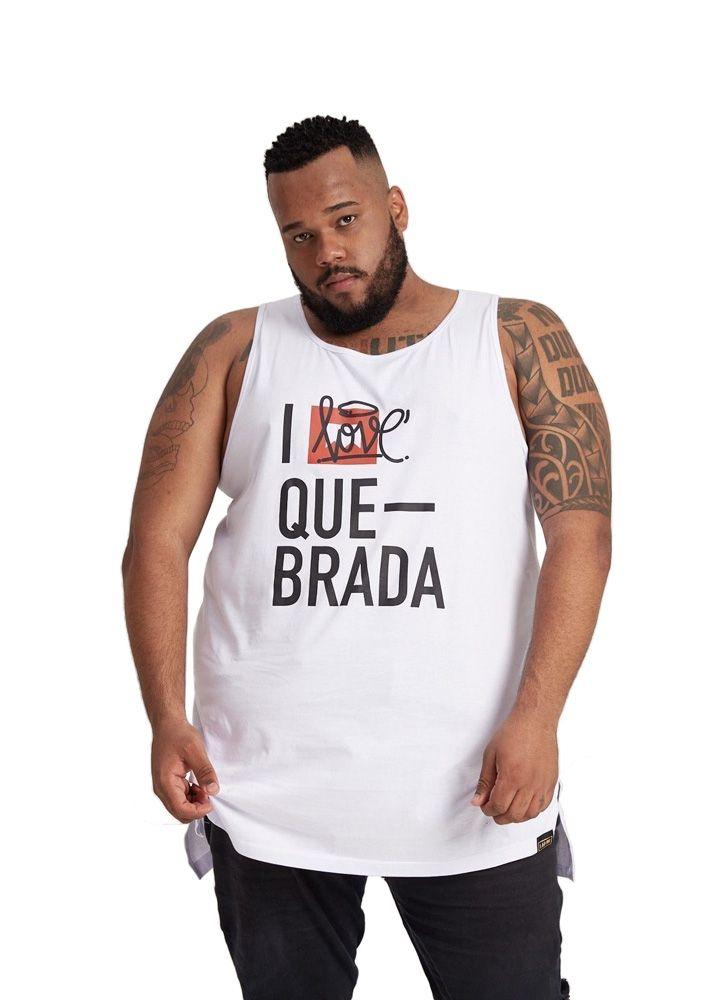 REGATA OVERSIZED I LOVE QUEBRADA BRANCA PLUS SIZE