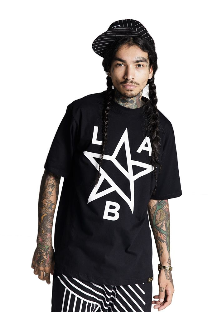 Camiseta Básica Lab Estrela Preta