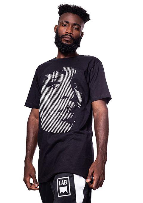 Camiseta Oversized Elza Soares Preta