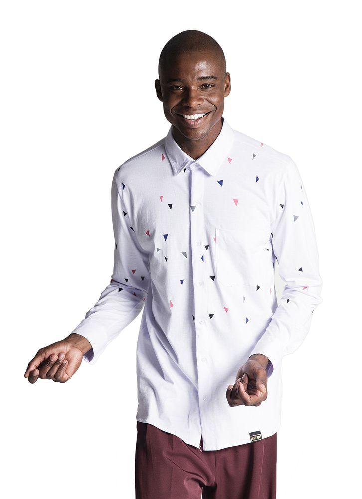 Camisa manga longa Mini Confete Branca