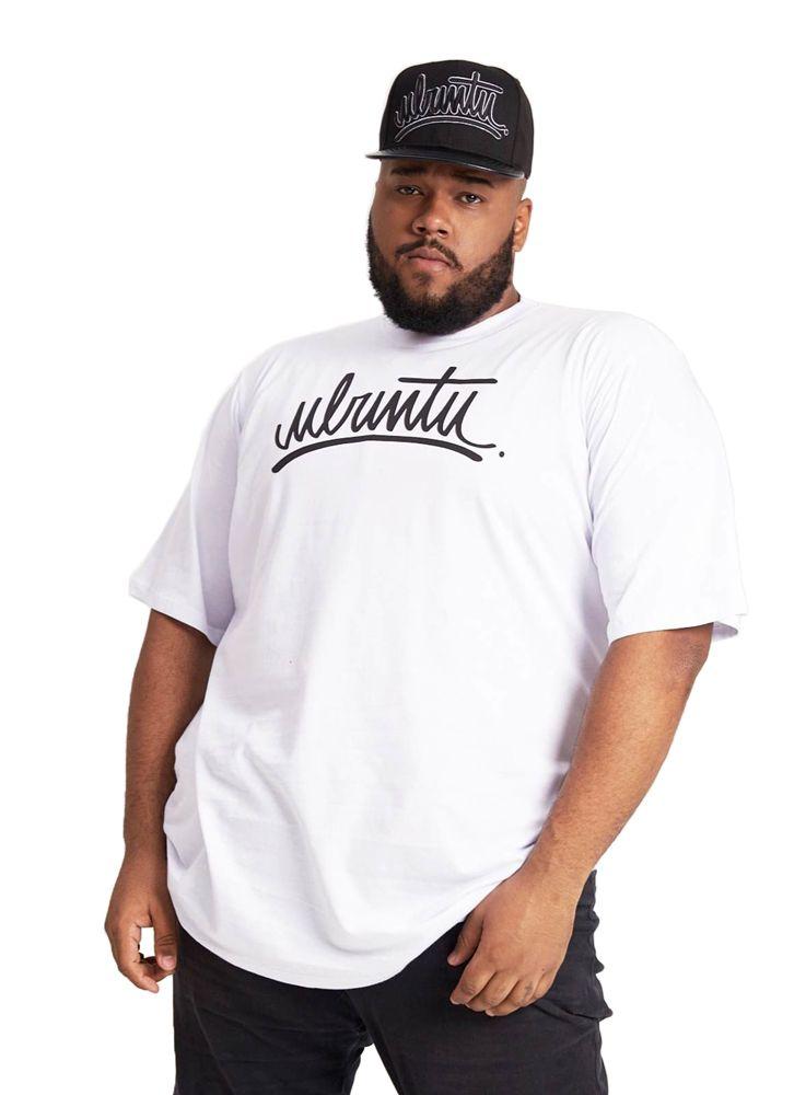 Camiseta Básica Ubuntu Tag Branca Plus Size