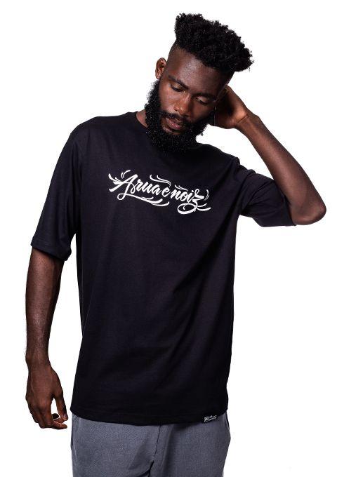 Camiseta Masculina A rua é nóiz Preta