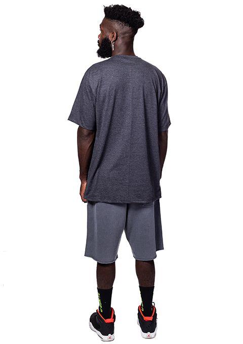 Camiseta Básica R.U.A. Cinza mescla escuro