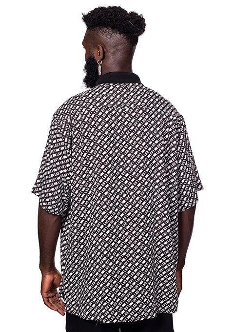Camisa Masculina com bolso Lab Fullprint Preta