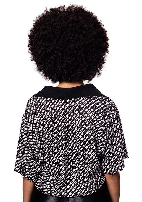 Camisa Feminina Lab Fullprint Preta