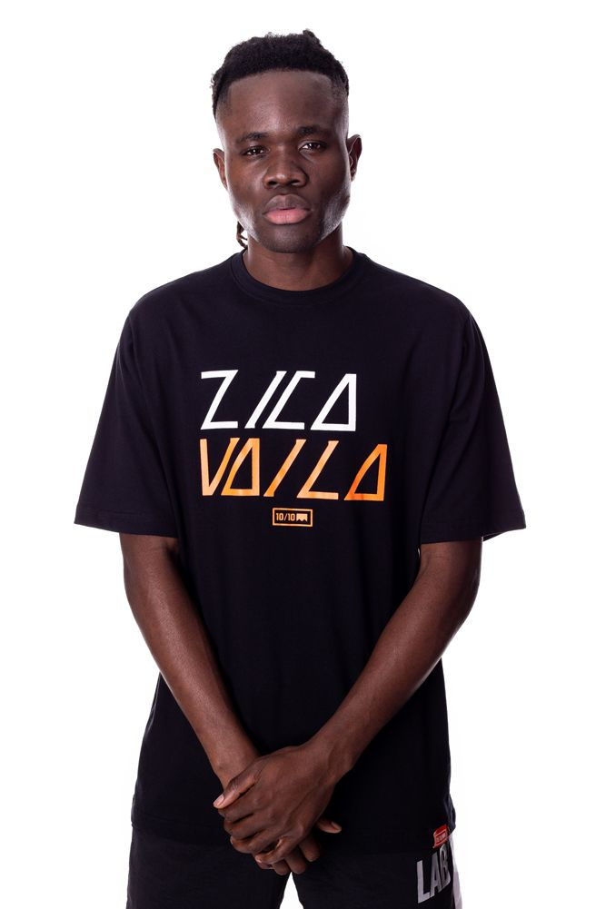 Camiseta Básica Lab Zica vai lá Preta
