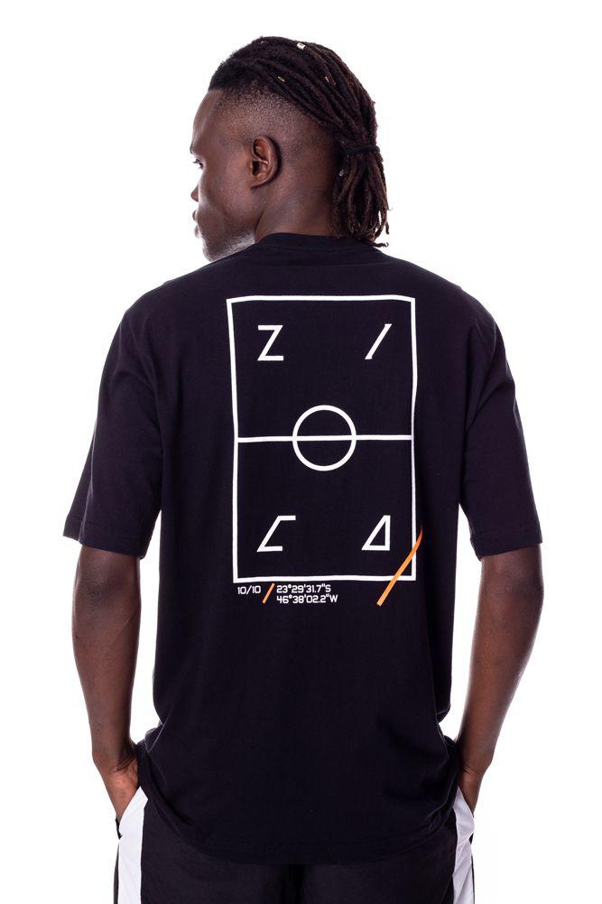 Camiseta Básica Lab Campo de futebol Zica Preta