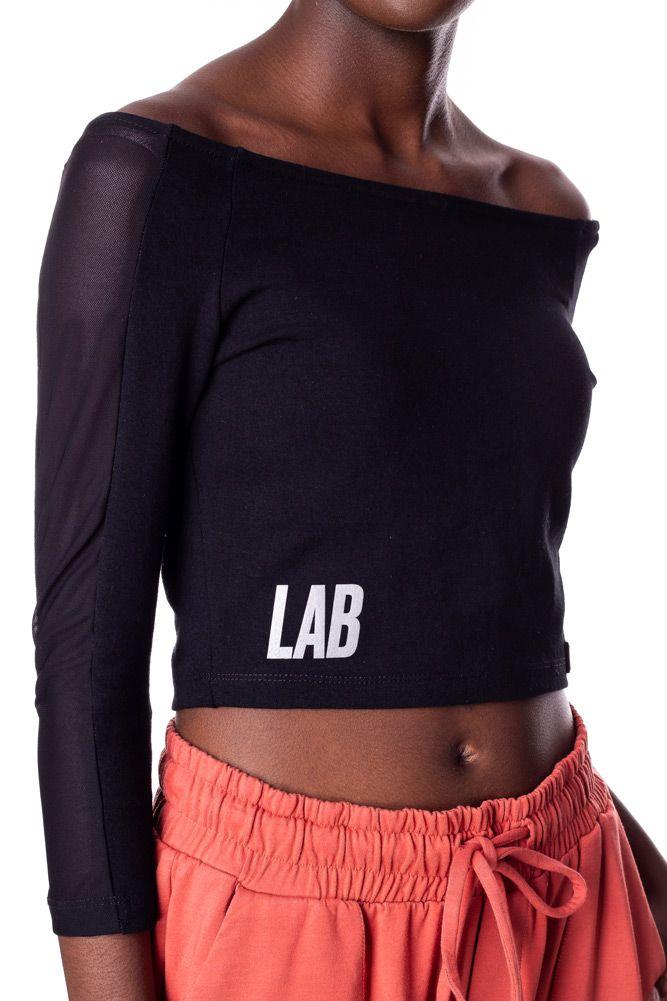 Blusa Cropped Lab 10/10 Preta
