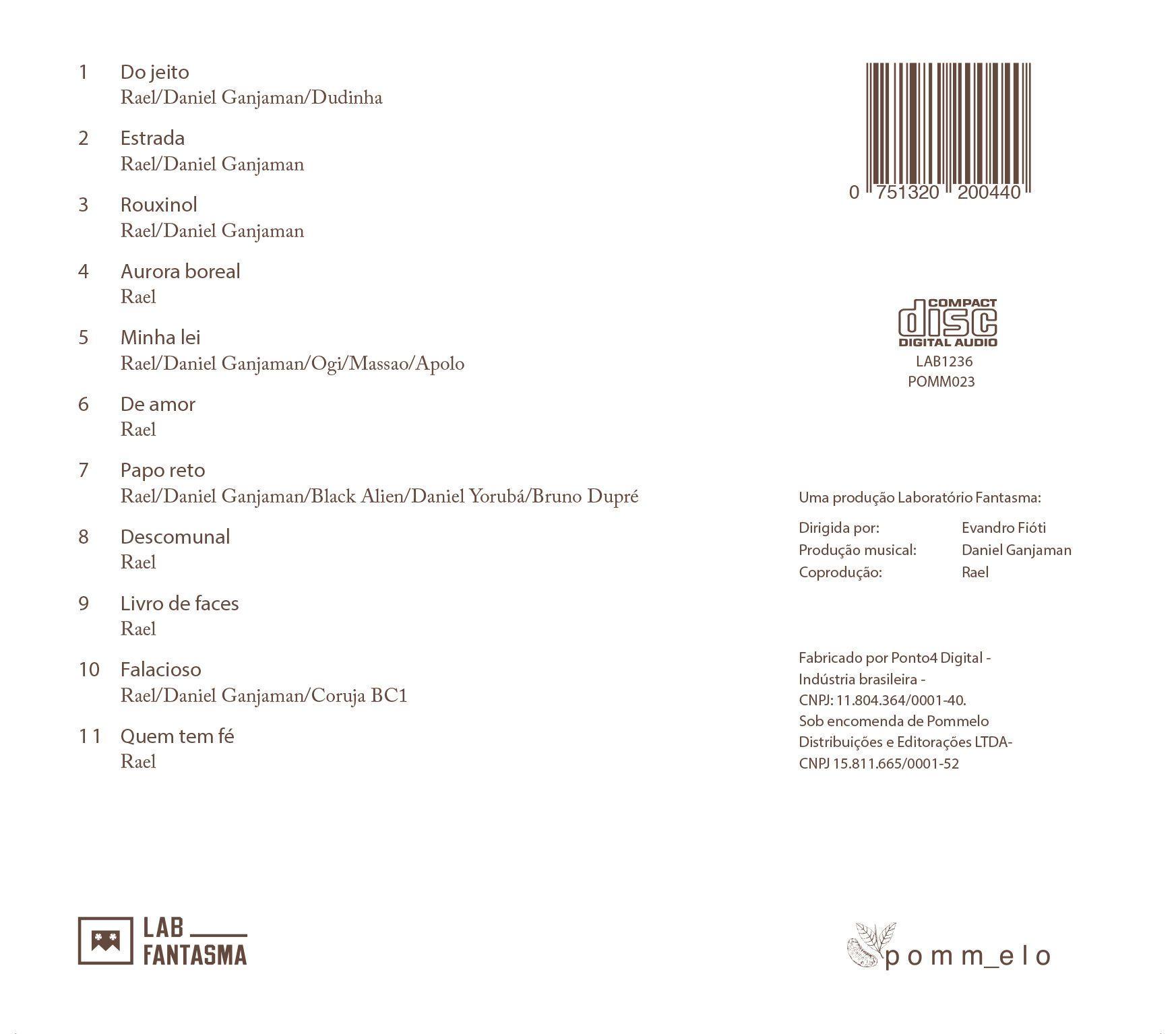 CD Rael - Coisas do meu imaginário