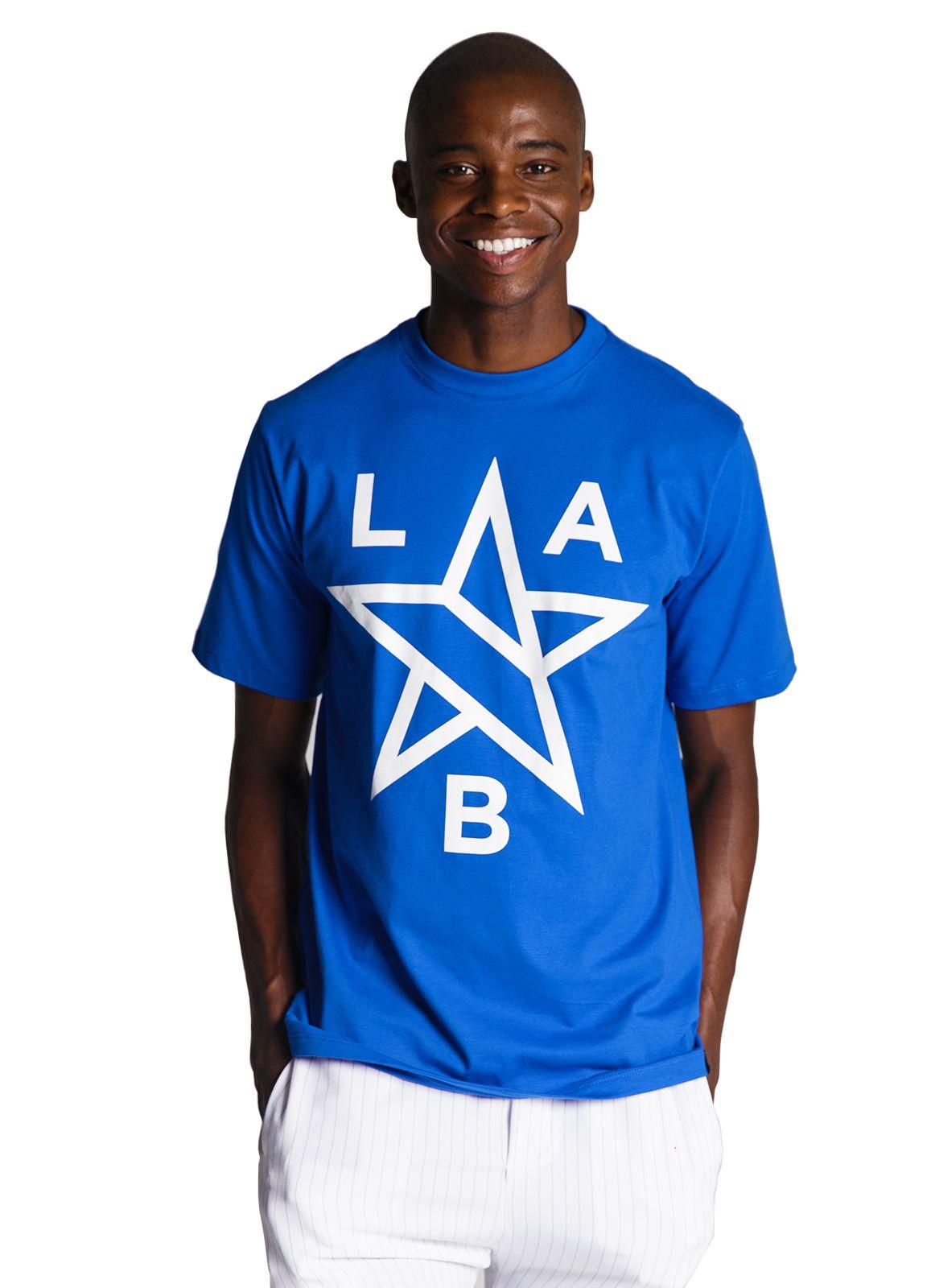 Camiseta Básica Lab Estrela Azul Turco