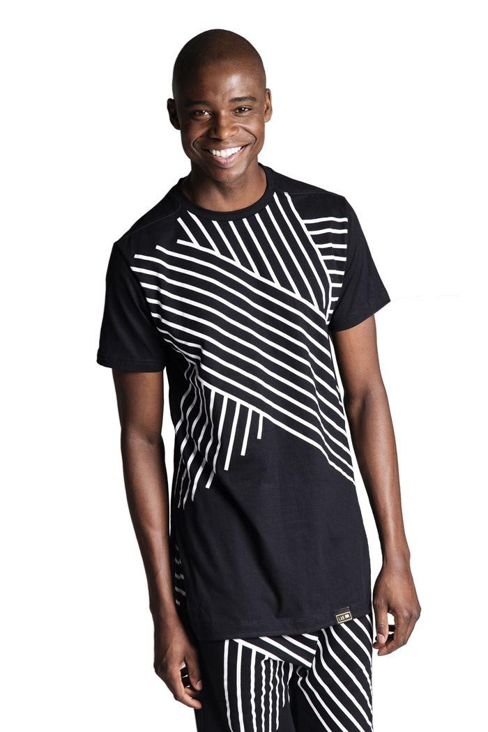 Camiseta Oversized Estrela Linhas Preta