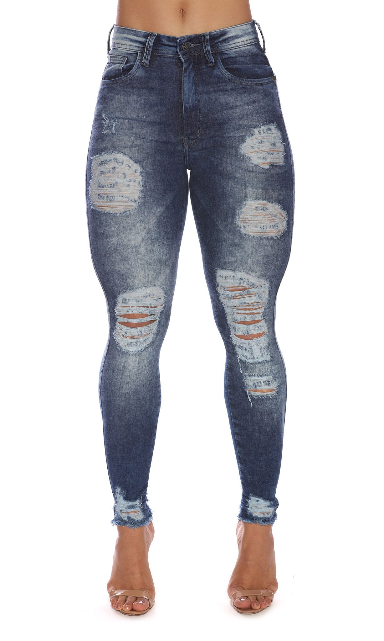Jeans Pants Skinny Destroyed Maria Gueixa Jeans