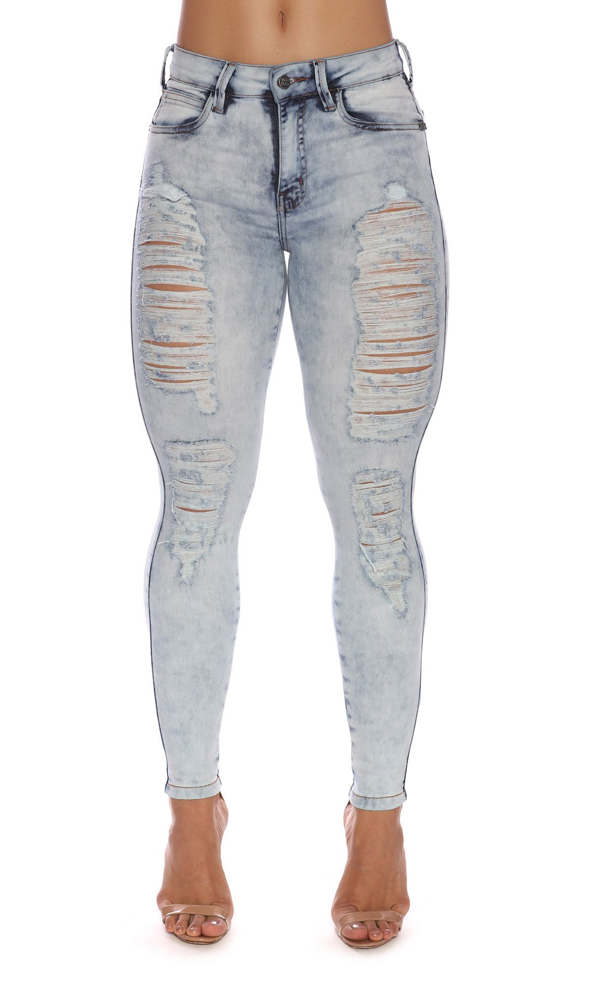 Jeans Pants Destroyed Power Maria Gueixa Jeans