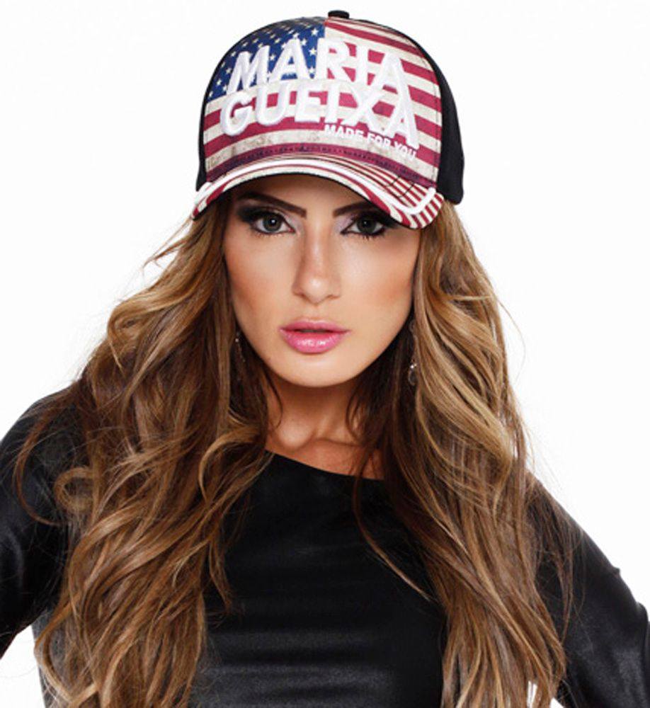 BONÉ FLAG USA MARIA GUEIXA PRETO